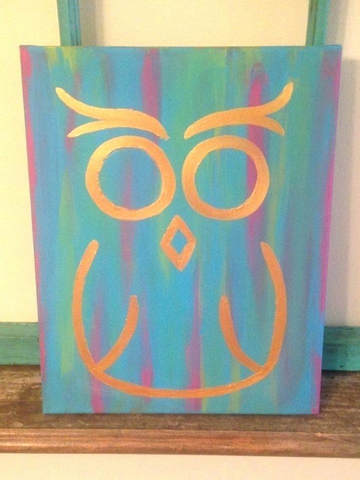 Cute Canvas Painting Idea