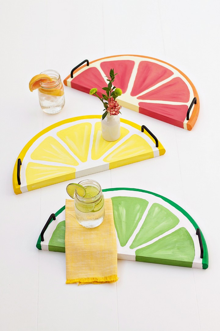 DIY Amazing Citrus Fruit Serving Trays