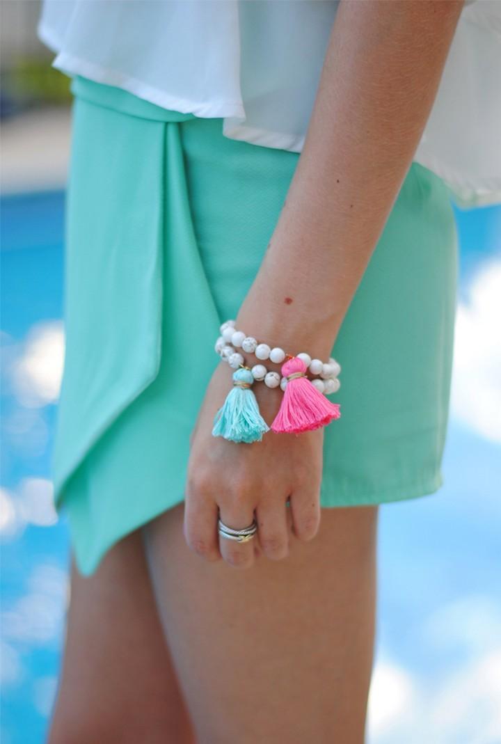DIY Beaded Tassel Bracelets