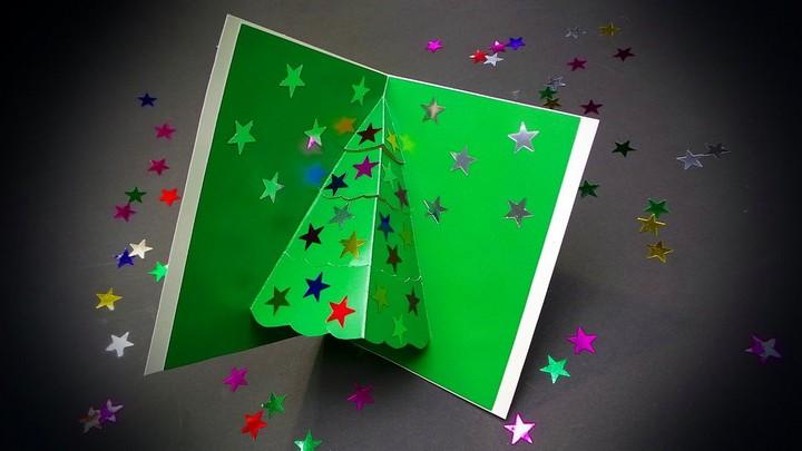 DIY Christmas Card Easy Christmas Pop Up Card