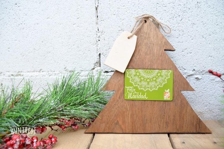 DIY Christmas Tree Gift Card Holder