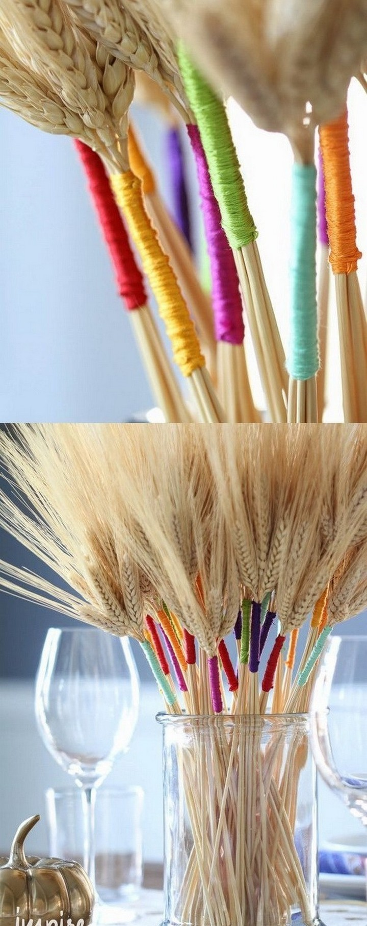 DIY Color Wrapped Wheat