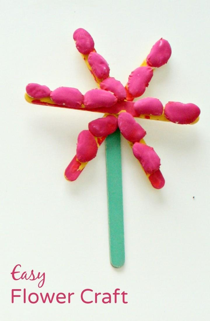 DIY Craft Stick Spring Flower