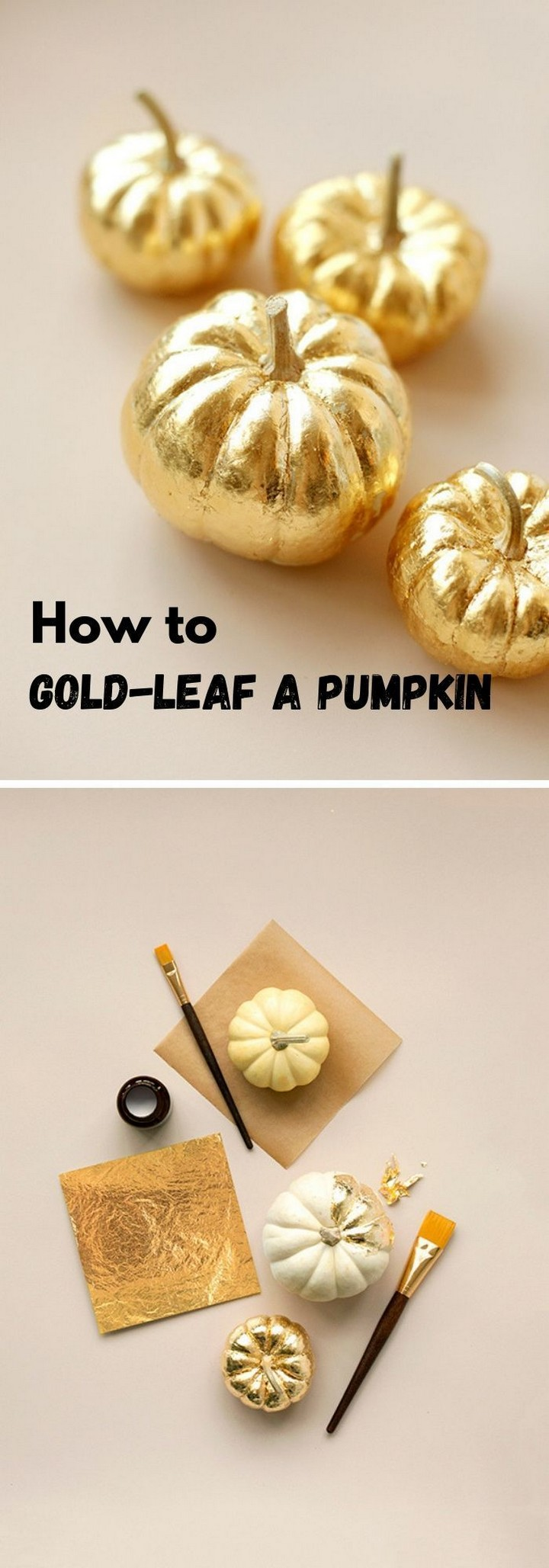 DIY Creative Gold Spray Paint Pumpkin
