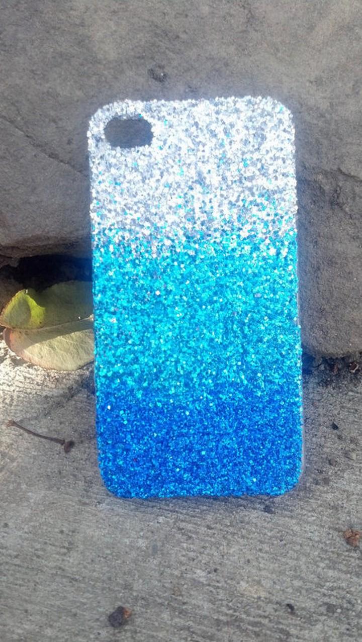 DIY Cute Awesome Blue Sky Blue Silver Phone Case