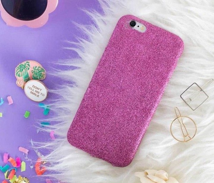DIY Easy Creative Phone Cover With Glitter