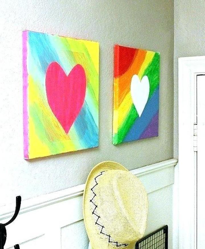 DIY Easy Heart Painting Idea