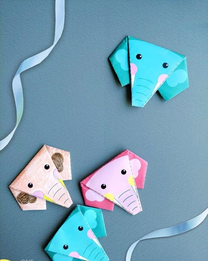 DIY Easy Paper Origami Elephant For Kids