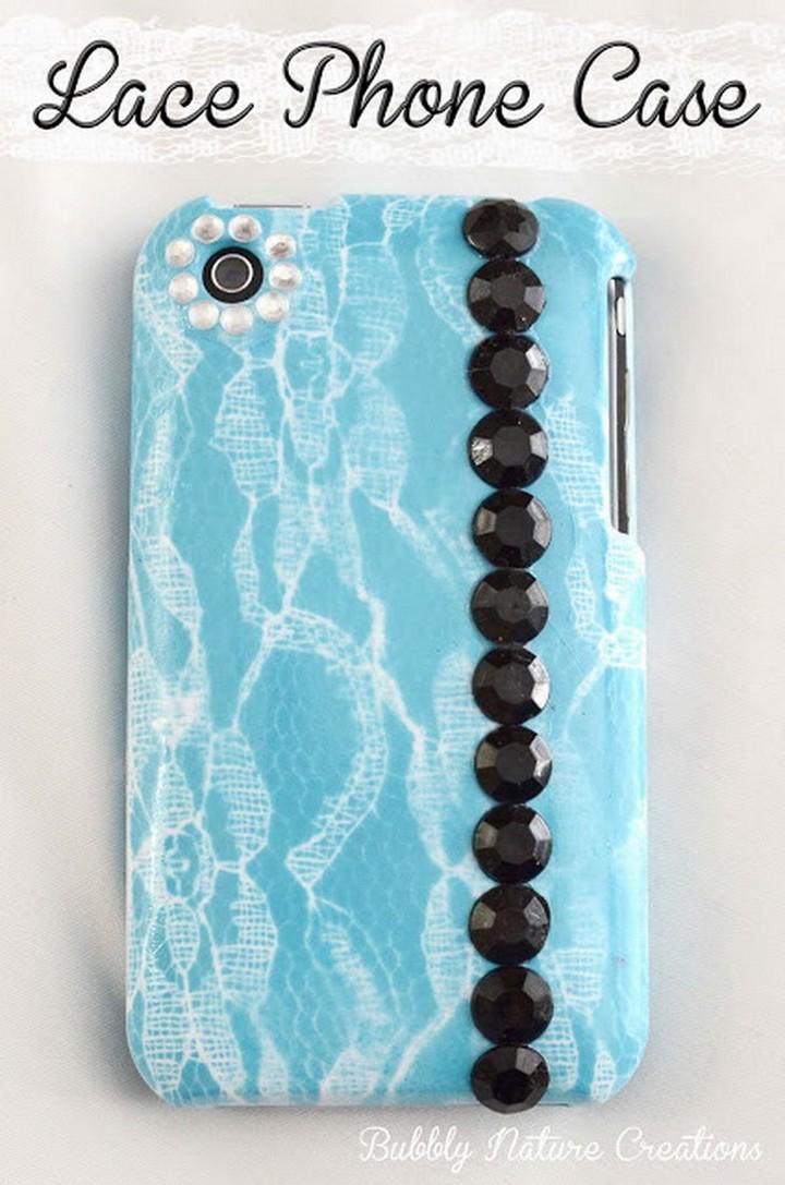 DIY Fabolous Creative Phone Case Using With Lace
