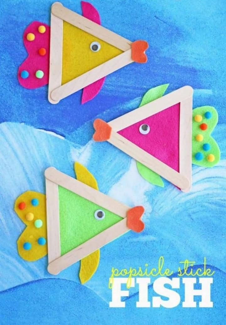 DIY Fish Popsicle Stick Craft Preschool
