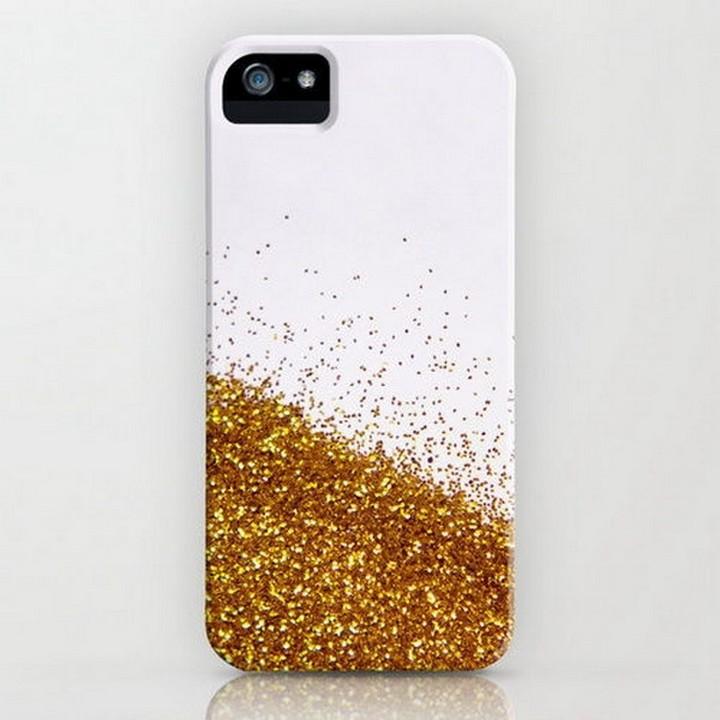 DIY Gold Glitter Sparkly Shiny Phone Case
