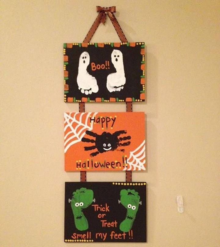 DIY Halloween And Fall Pumpkin Wall Hanging