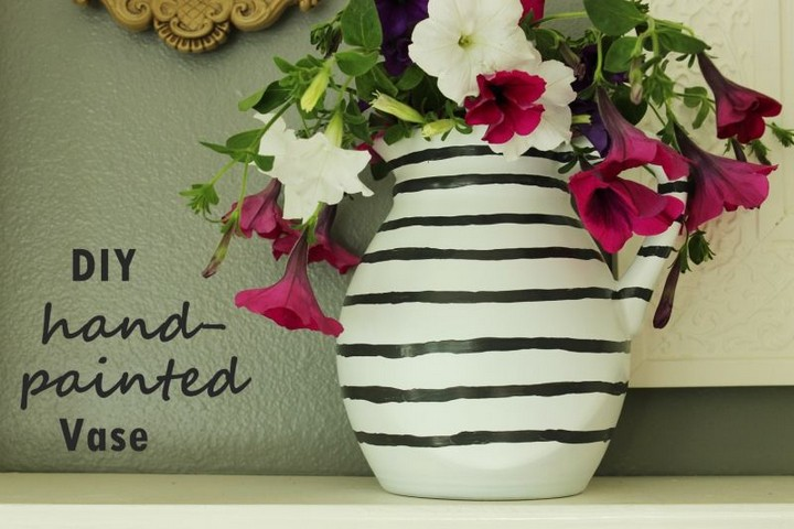 DIY Hand Painted Flower Vase