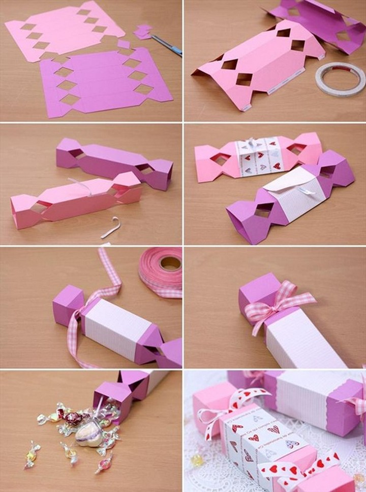 DIY Lovely Candy Shaped Gift Box