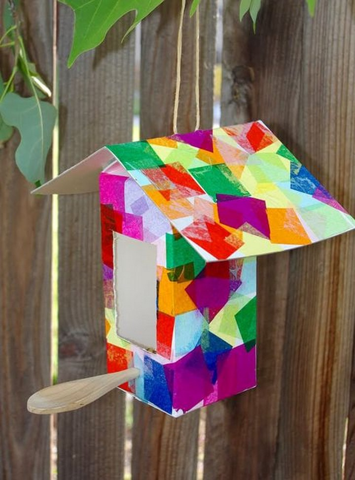 DIY Milk Carton Bird Feeder Tutorial