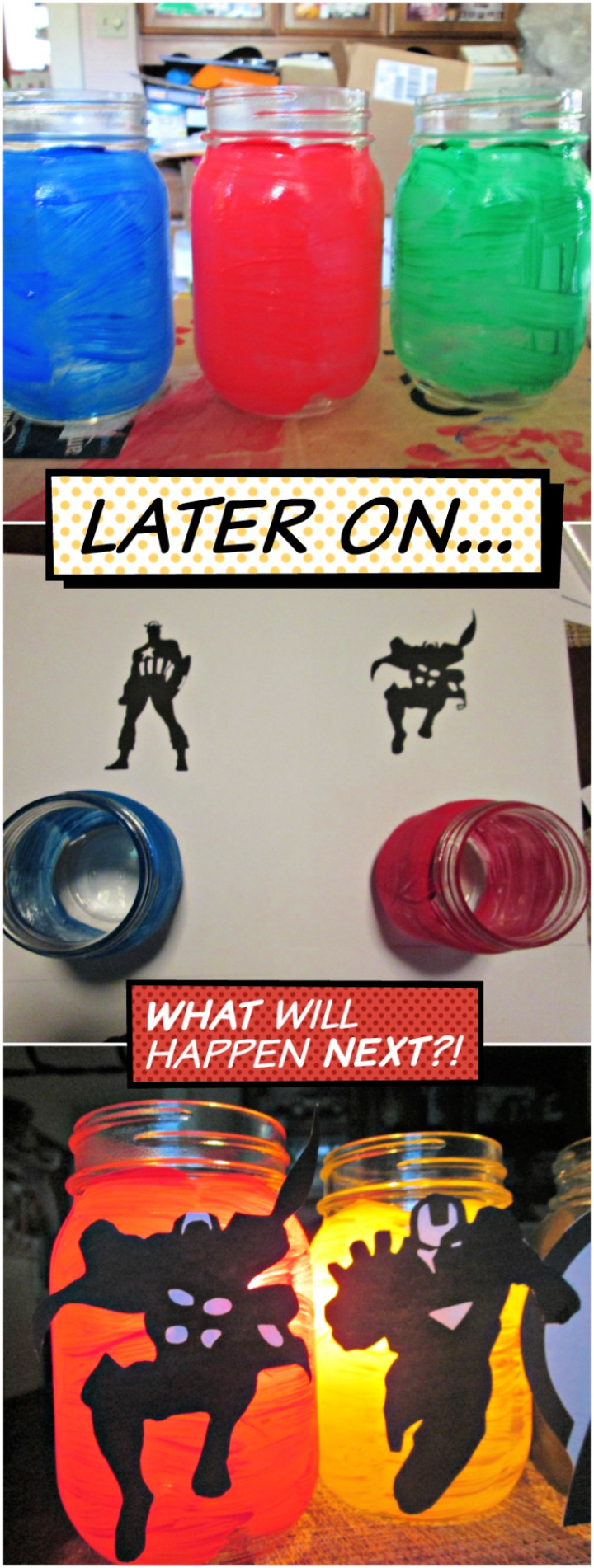 DIY Painted Avengers Meson Jar