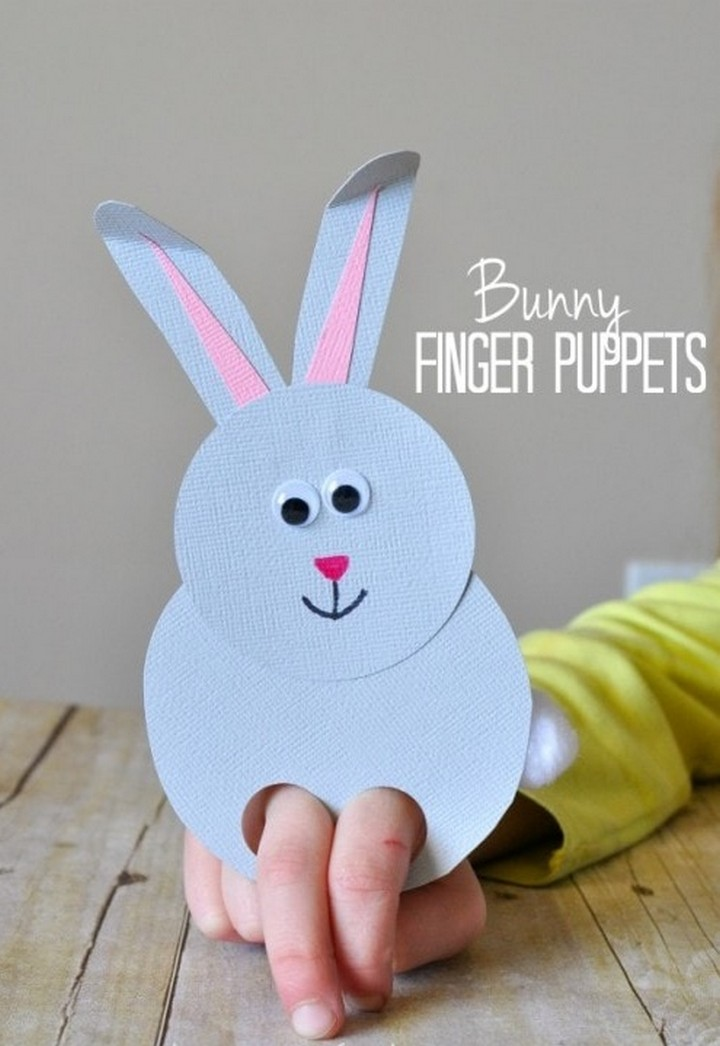 DIY Paper Bunny Finger Puppet