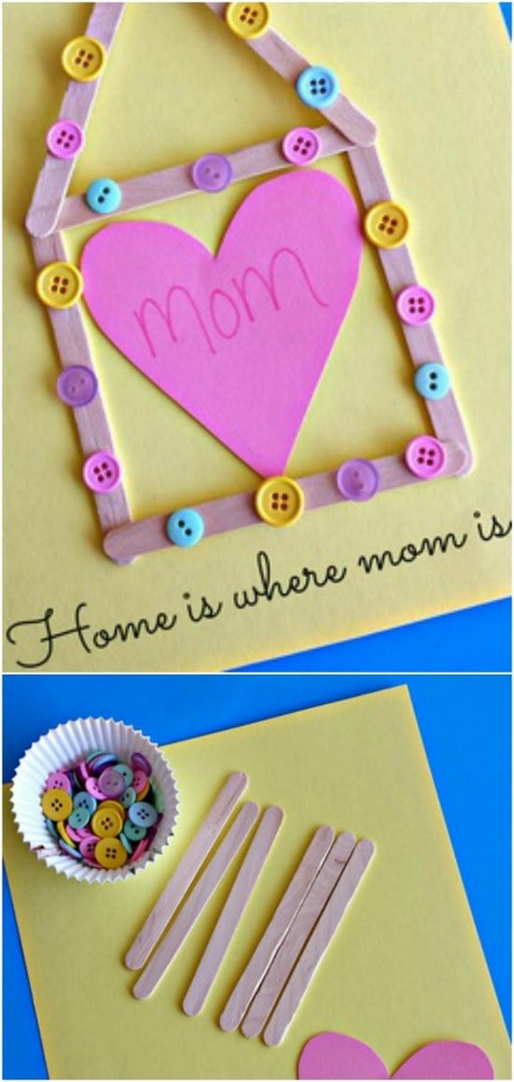 DIY Popsicle Stick Mothers Day Craft