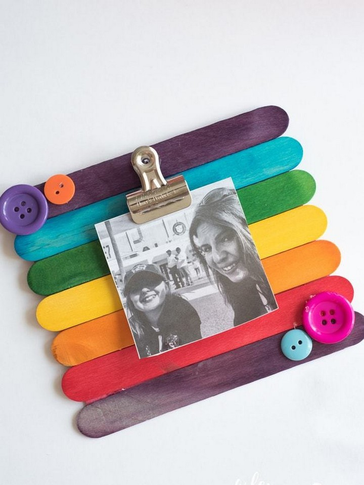 DIY Popsicle Stick Picture Frame
