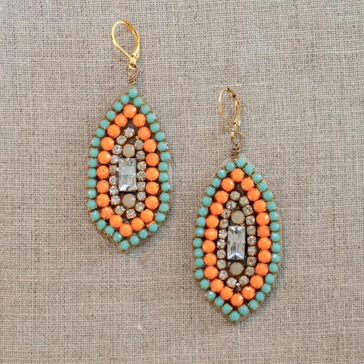 DIY Rhinestone Marquis Drop Earrings