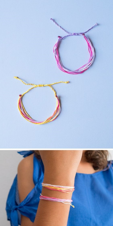 DIY String Friendship Bracelets Tutorial