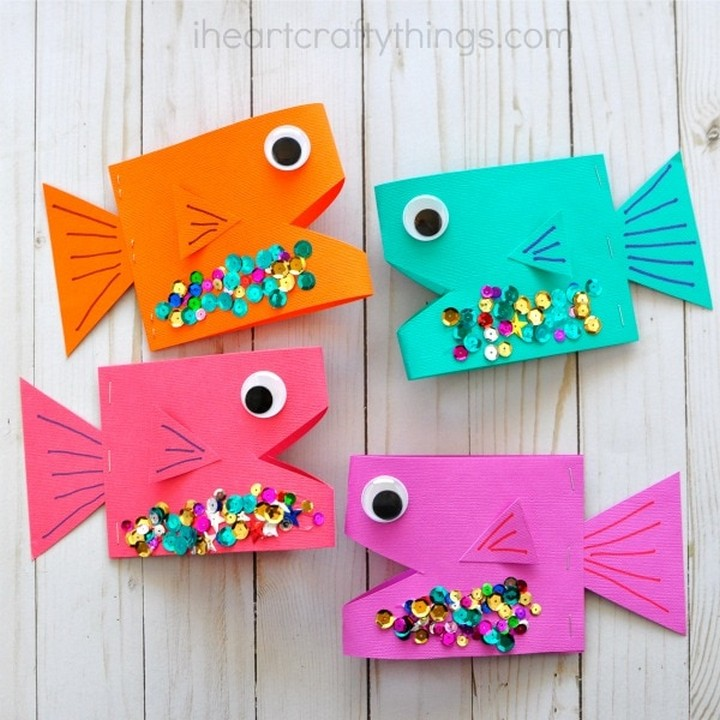 DIY Super Cute Paper Fish Craft For Kids