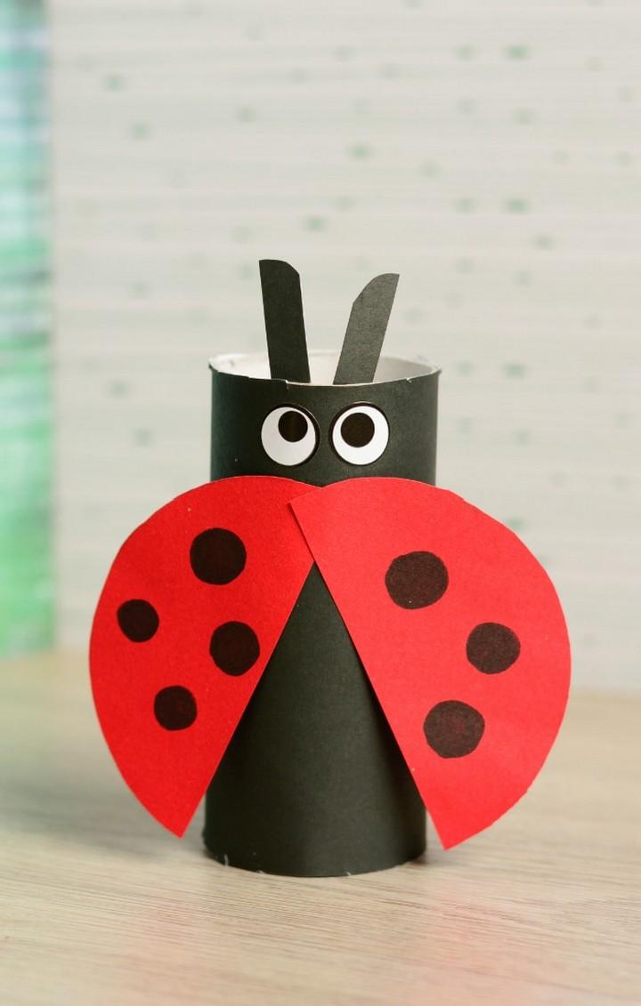 DIY Toilet Paper Roll Ladybug Craft