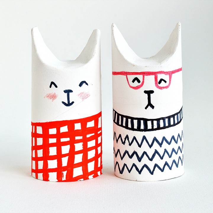 DIY Toilet Roll Crafts Cats
