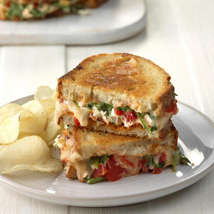DIY Tomato Grilled Cheese Sanwich
