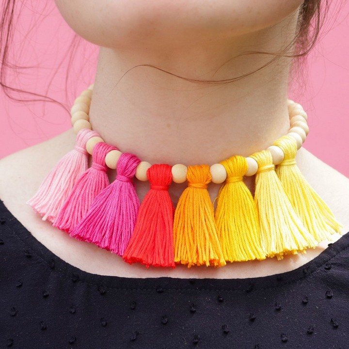 DIY Tussle Neckless For Teenagers