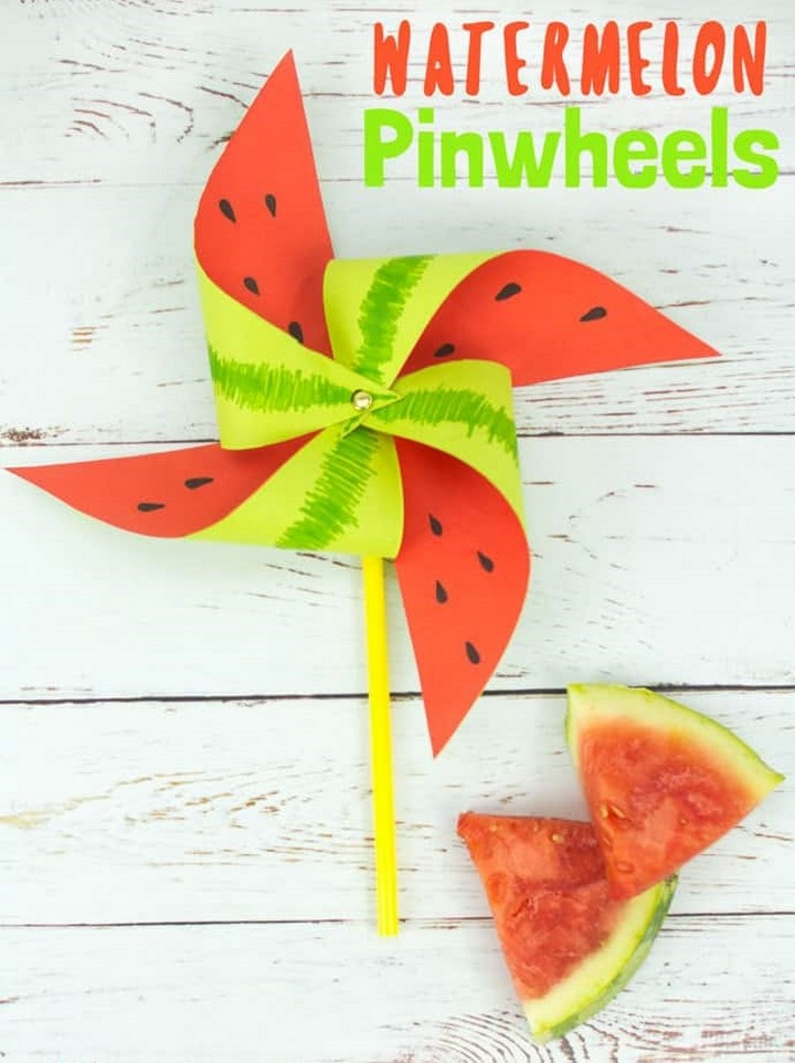 DIY Watermelon Pinwheel Craft