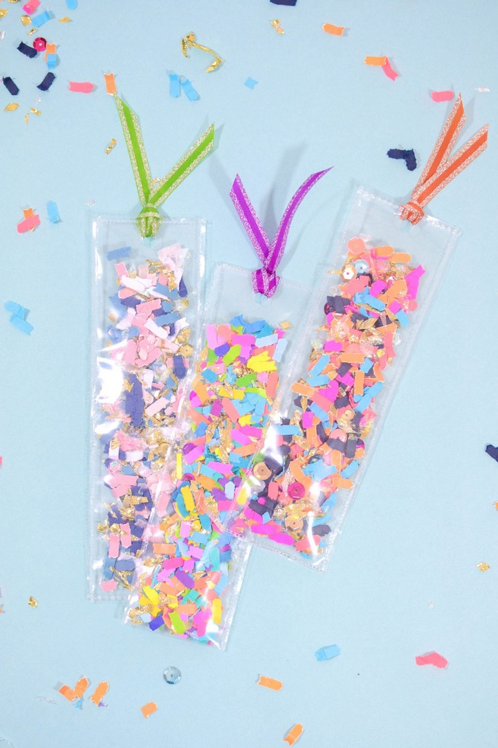 Decided To Make A DIY Confetti Shaker Bookmrks Ideas