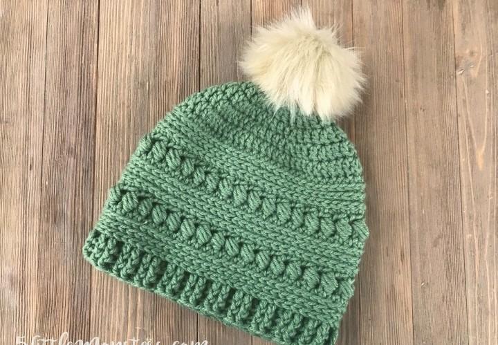 Easy Bead Stitch Crochet Hat Pattern