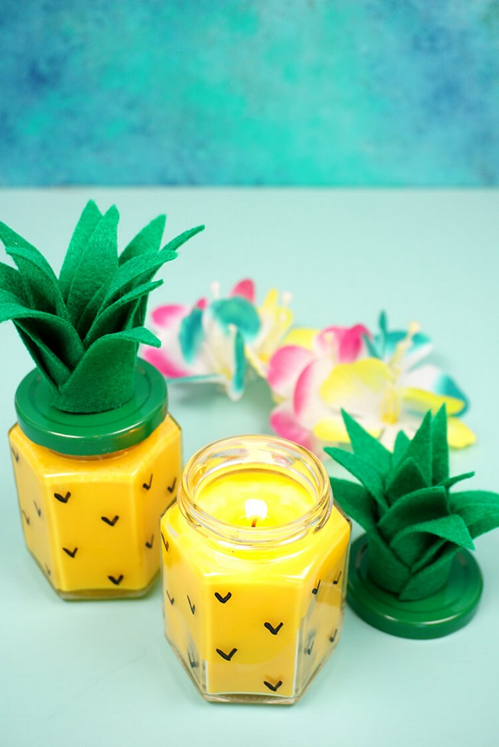 Easy Beautiful Pineapple Candles Which Is A Source Of Happiness