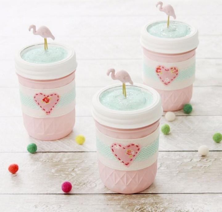 Easy DIY Flamingo Mason Jars Tutorial