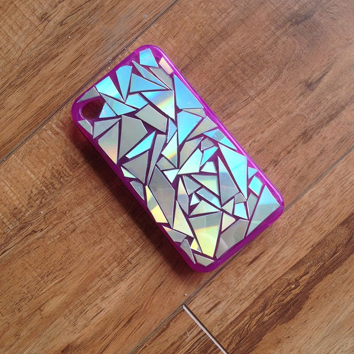 Easy DIY Mosaic Phone Case With 3D Diamond Bling