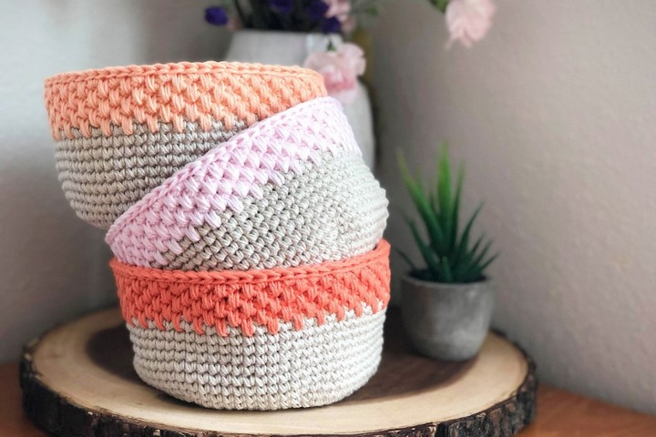 Easy Modern Crochet Storage Basket