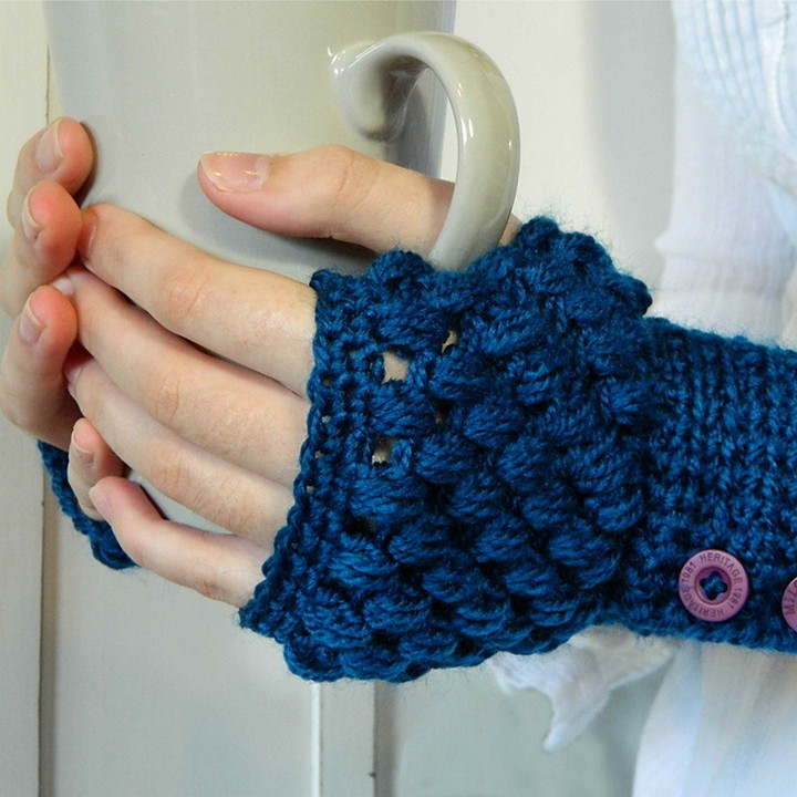 Easy To Make Crochet Fingerless Gloves Winter Accesories