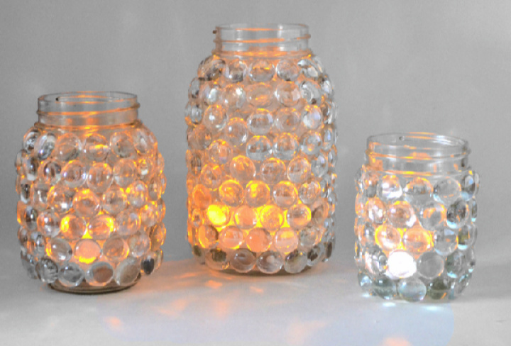 Easy To Make Luminaries Meson Jar From The Hobby Store