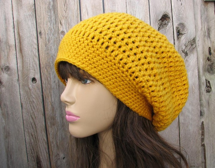 Free Crochet Beanie In The Round Sloughty Hat Crochet Pattern