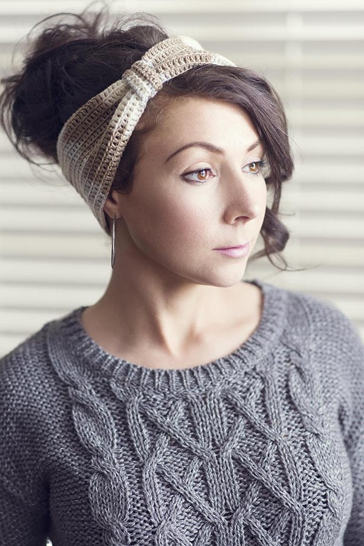 Free Crochet Latte Headband Easy To Make Pattern