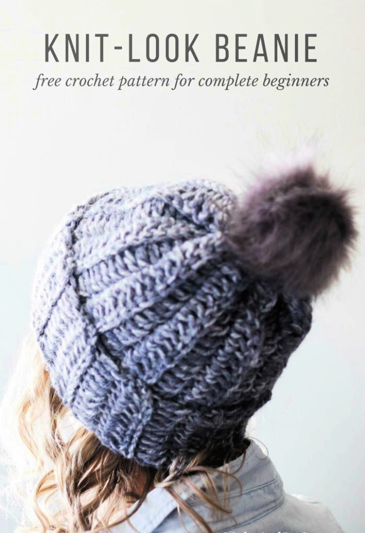 Free Knitted Crochet Hat Pattern With Snowfall