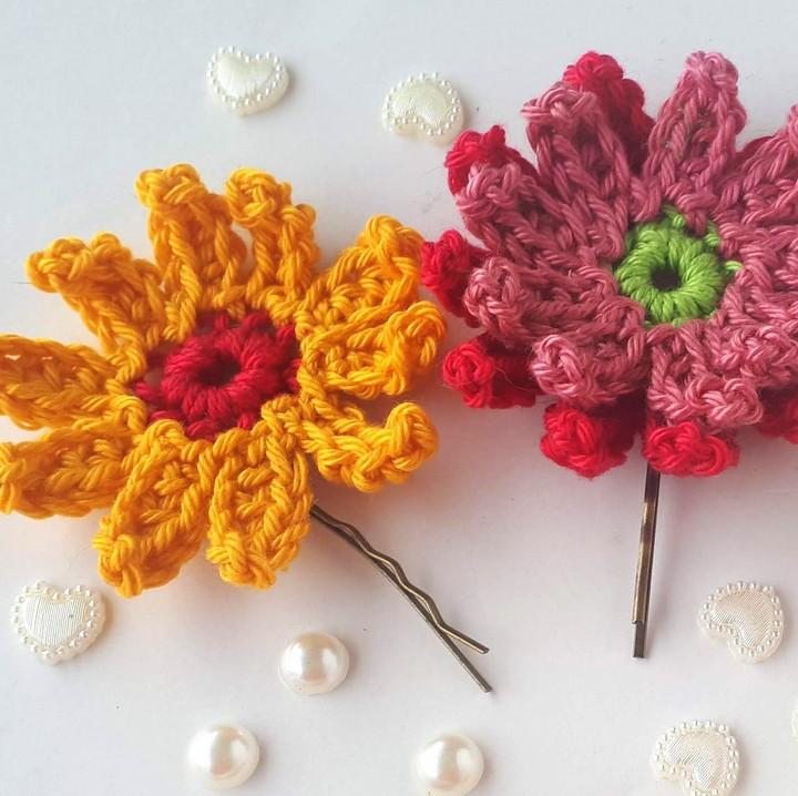 Gerbera Crochet Flowers Free Crochet Pattern