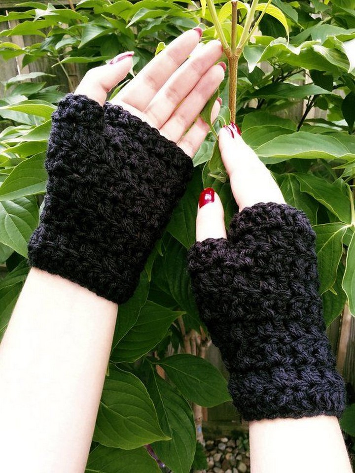 Hand Crafted Thick Warmer Crochet Fingerless Glove Pattern