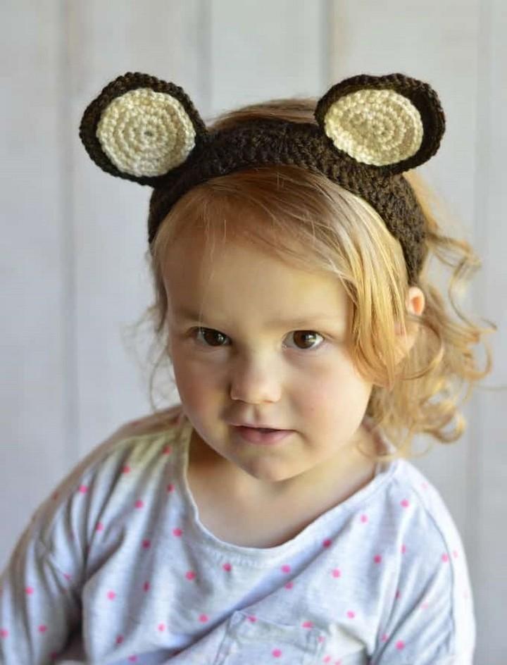 Hand Crochet Headbands Woodland Animal Ear Headband Pattern