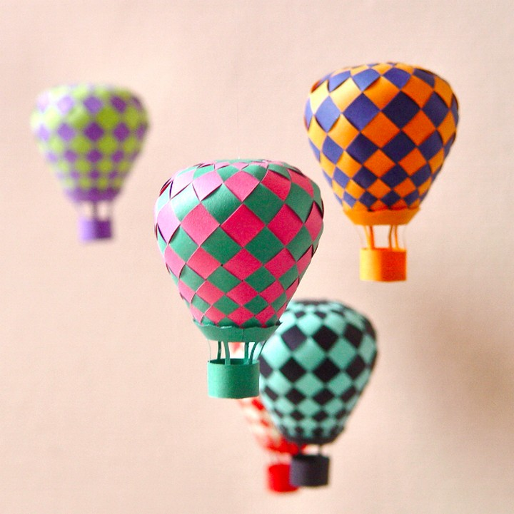 Hot Air Paper Balloons Decorations