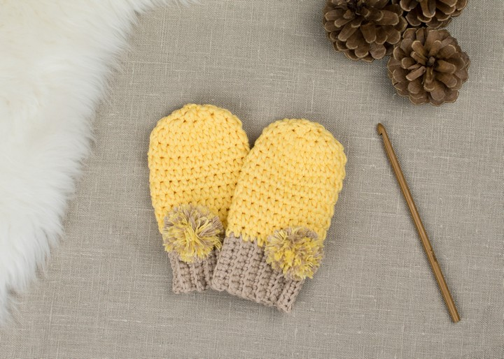 How To Crochet Baby Mittens
