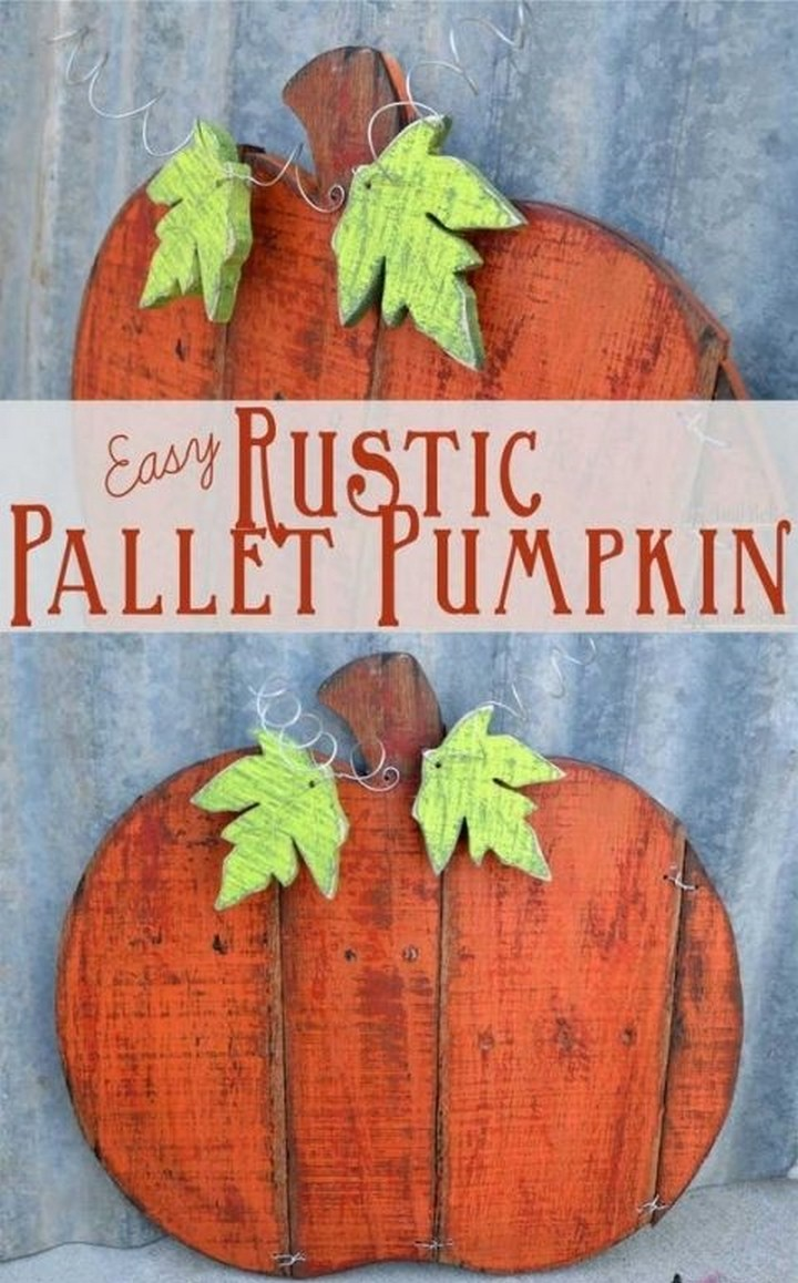 How To Make A Pallet Pumpkin For Fall