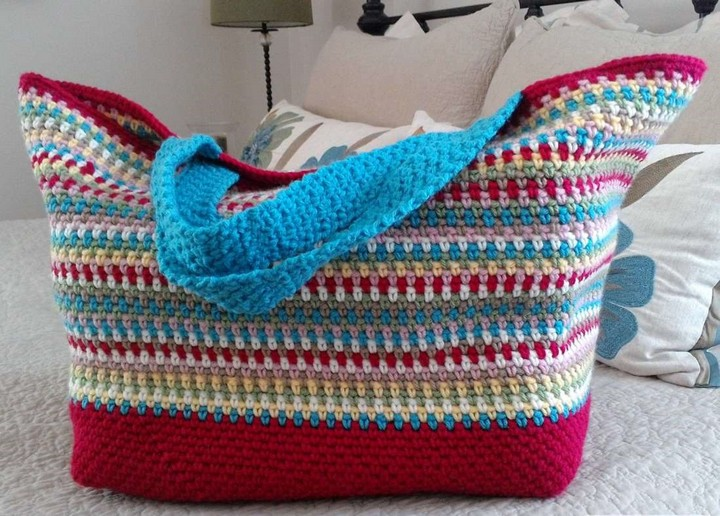 How To Make Crochet Confetti Tote Bag