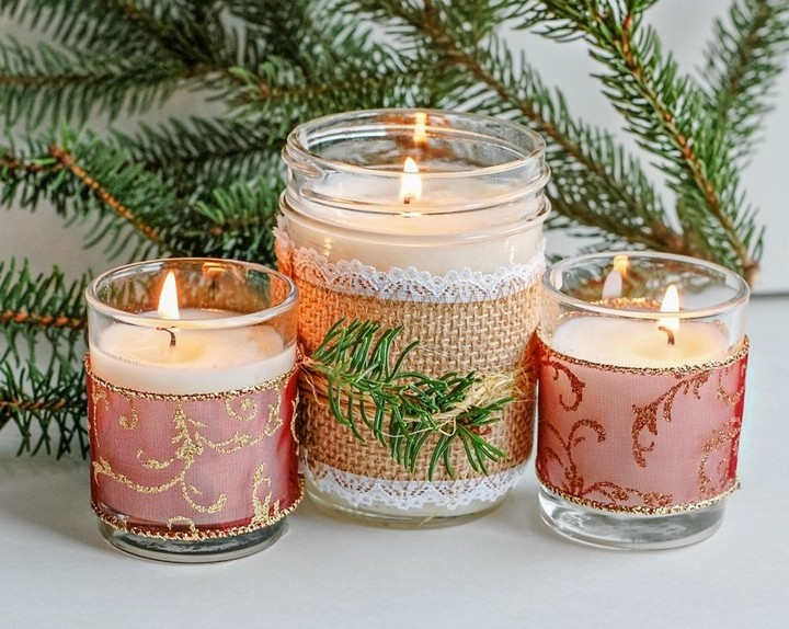 How To Make DIY Chritmas Candles Using Essential Oils